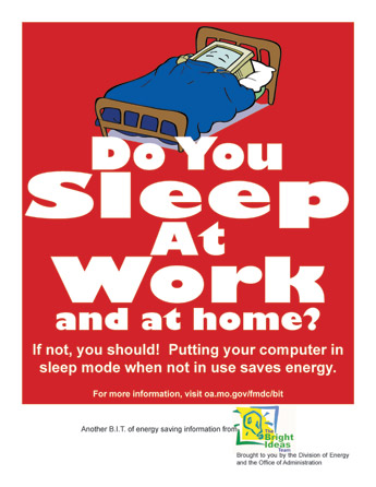 Do You Sleep at Work and at Home? Poster
