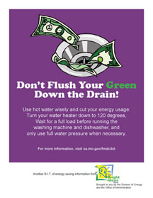 Don't Flush your Green Down the Drain