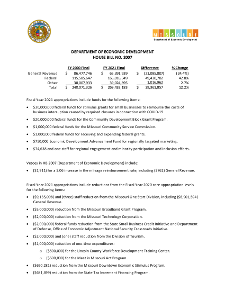 Fiscal Year 2021 Department of Economic Development House Bill No. 7 Fact Sheet