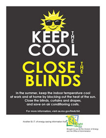 Keep the Cool: Close Blinds Poster
