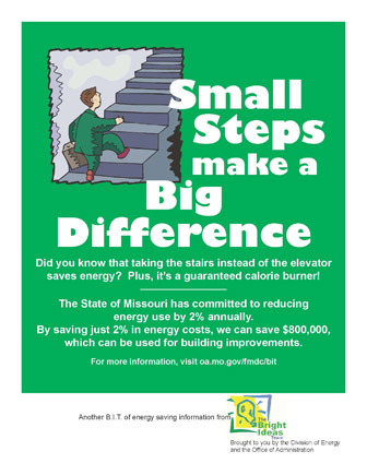 Small Steps make a Big Difference
