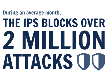 During an average month, The IPS blocks over 2 million stats.