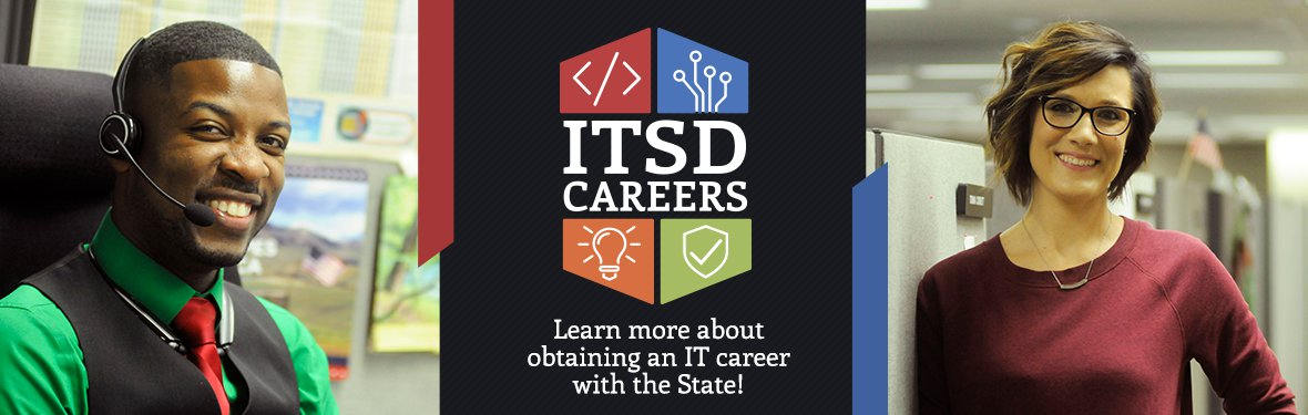 ITSD Careers -  Learn more about obtaining an IT career with the State!