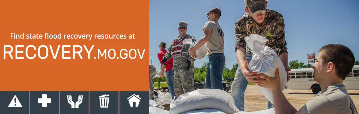Find state flood recovery resources at recovery.mo.gov