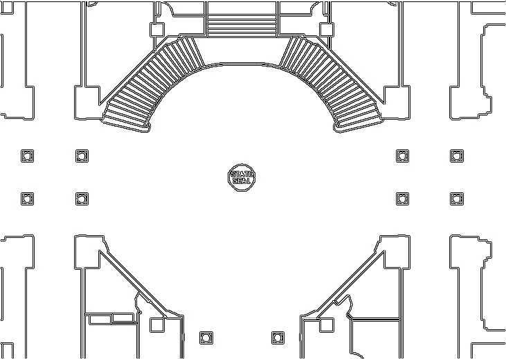 a diagram of the capitol 1st floor rotunda
