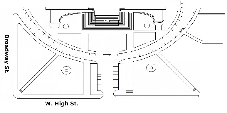 Diagram of the South Steps and Lawn