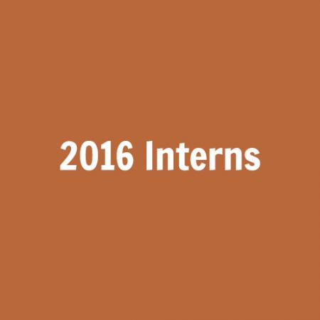 2016 Interns